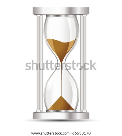 Hourglass. Vector - stock vector