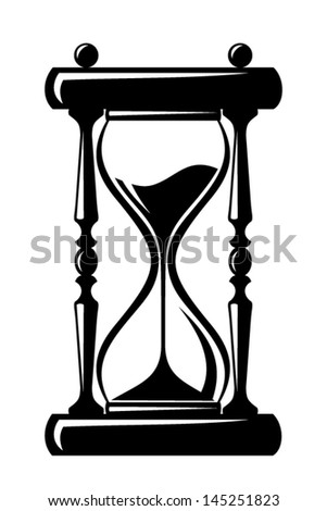 hourglass vector black silhouette stock vector 145251823 shutterstock rh shutterstock com hourglass vector image free hourglass vector art