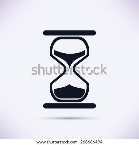 hourglass vector icon - stock vector