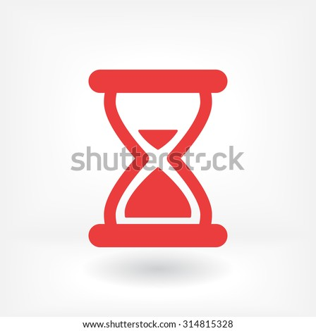 hourglass vector icon 10 EPS - stock vector