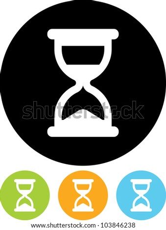 Hourglass - Vector icon isolated - stock vector