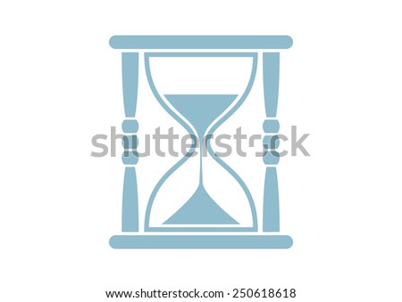 Hourglass vector icon on white background