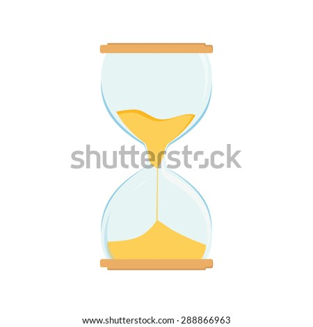 Hourglass vector icon. Sand watch. Sand glass. Sand clock