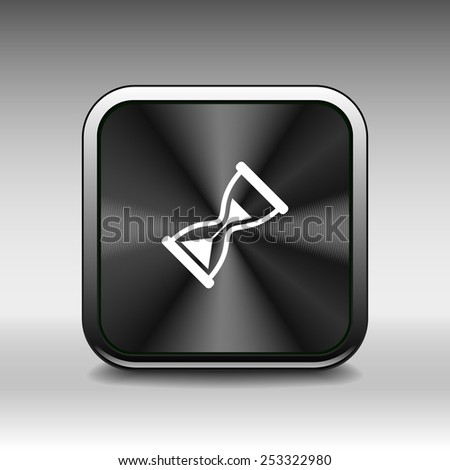Hourglass. Vector illustration icon time watch wait hourglass clock