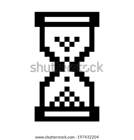 Hourglass windows - stock vector