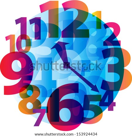 Hours alarm clock time. Vector illustration - stock vector