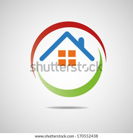 House abstract countryside design template icon