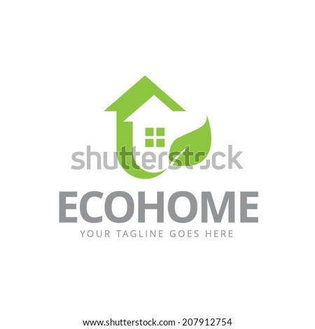 House abstract real estate countryside logo design template. Realty theme icon. Building vector silhouette. - stock vector