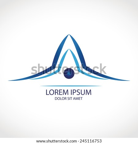 House abstract roof icon with concept design or logo for the building company art