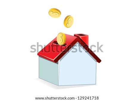 house and coin