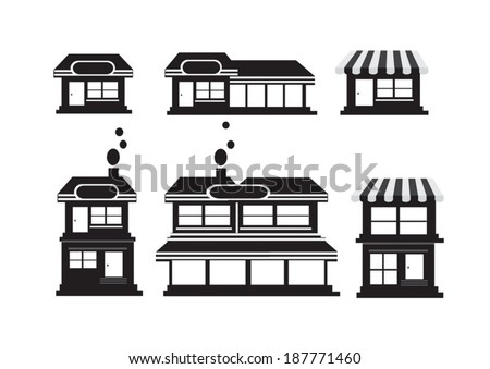 Store Icon Stock Photos, Illustrations, and Vector Art