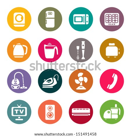 House appliances icons - stock vector