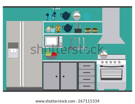 House areas design over white background, vector illustration - stock vector