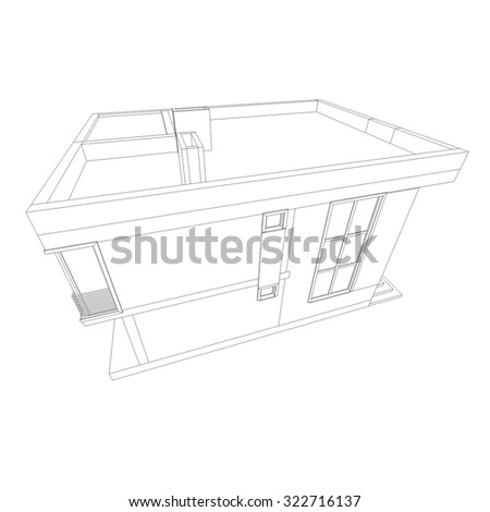 house building architectural drawing