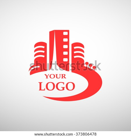 house building logo for your company isolated - stock vector