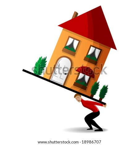 House burden - stock vector