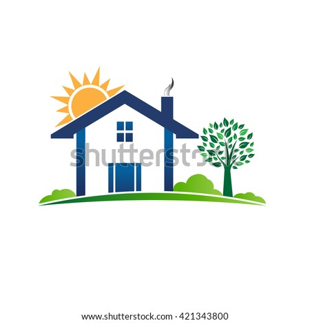 House Cabin Resort Logo Vector Graphic Illustration
