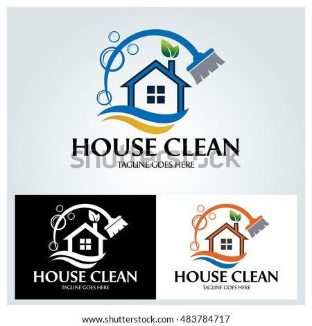 House cleaning stock images royalty free images vectors for Household design logo