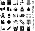 House Cleaning icons - stock vector