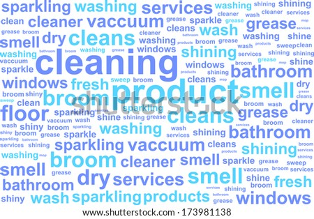 House Cleaning Services Word Cloud Concept - stock vector