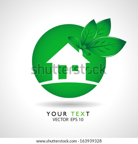 house eco icon concept in vector format - stock vector