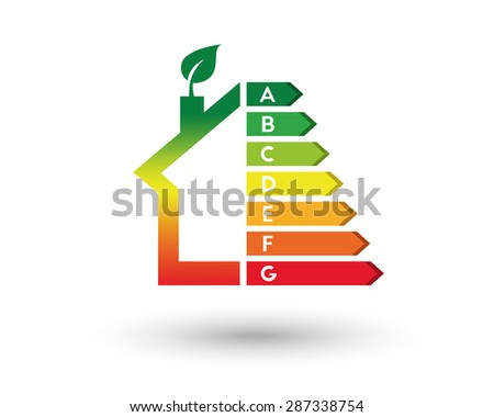House energy efficiency and home improvement concept - stock vector