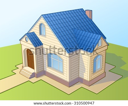 House exterior. Vector illustration.