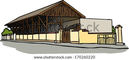 House for growing of figs - stock vector