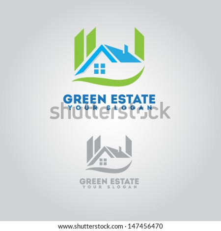 House For Real Estate - stock vector