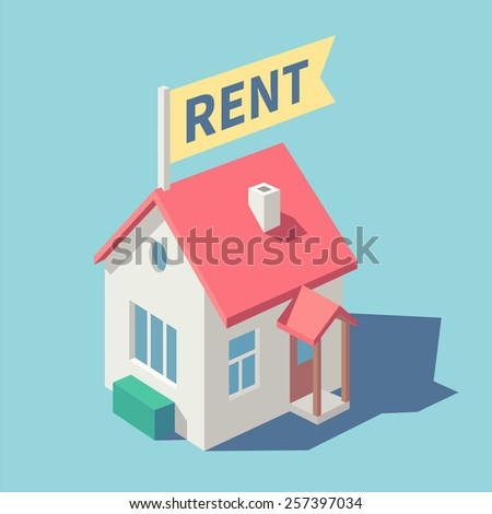 House for rent. Vector illustration. - stock vector