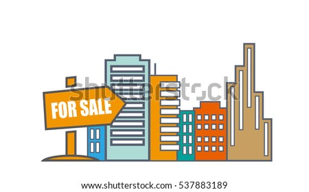 House For Sale. Real Estate Market Analysis Concept