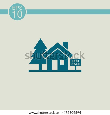 House for sale vector icon. Broker symbol.