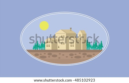 House game background illustration