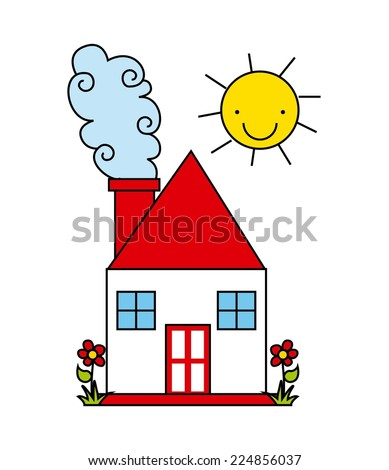 house graphic design , vector illustration