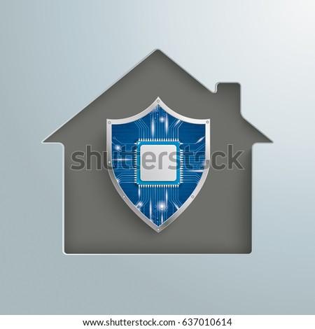 Shield House 3d rendering house money shield stock illustration 635723174