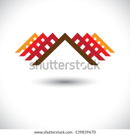 House ( home ) & office icon for real-estate industry- vector graphic. The illustration is also a icon for buying & selling property, residential accommodations, offices, etc - stock vector