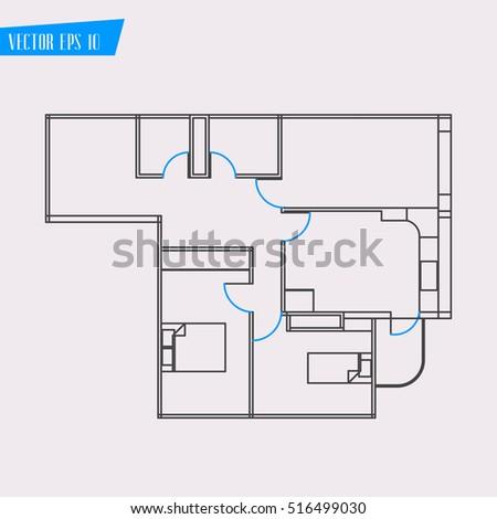 House Home Plan Icon Vector Stock Vector Shutterstock