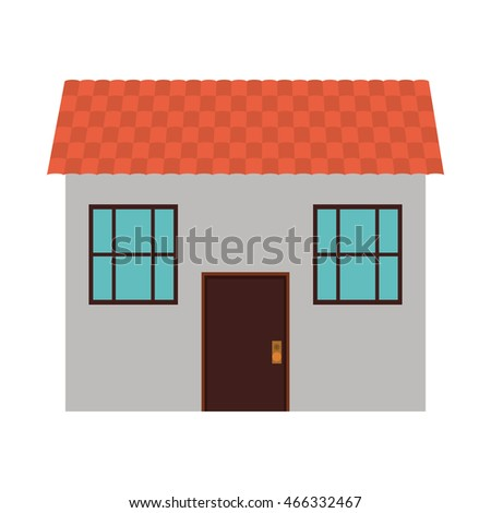 house home real estate building icon. Isolated and flat illustration. Vector graphic