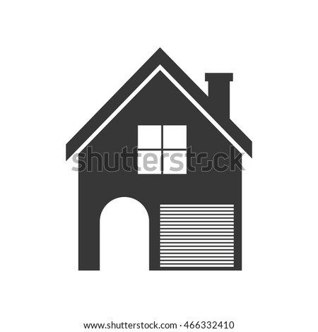 house home silhouette real estate building icon. Isolated and flat illustration. Vector graphic