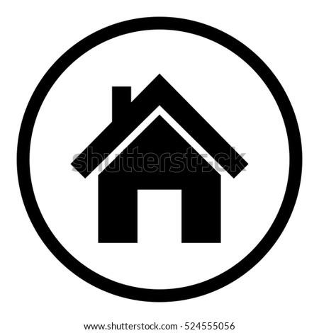 House Icon Stock Vector 524555056 Shutterstock