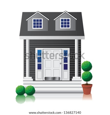 House Icon. EPS 10 vector, grouped for easy editing. No open shapes or paths. - stock vector