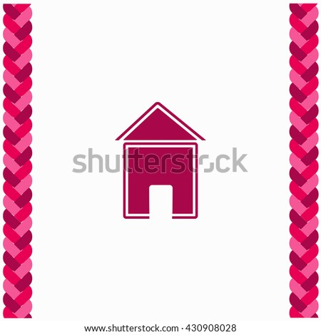 House icon Flat Design. Isolated Illustration. - stock vector