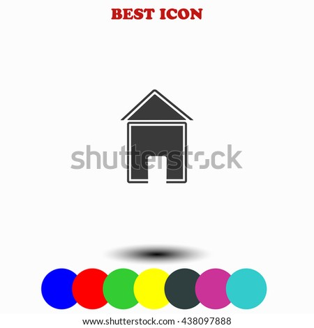 House icon. House illustration. House web. - stock vector