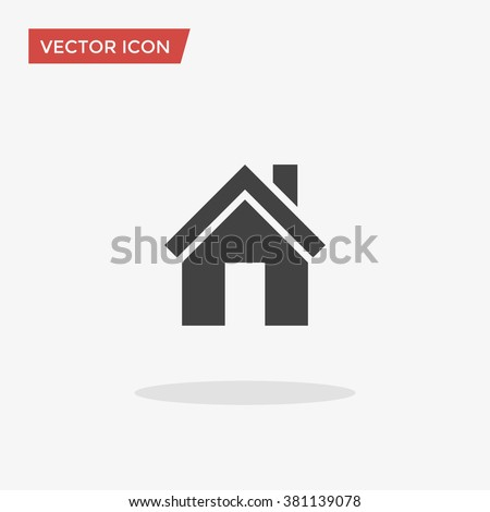 House Icon in trendy flat style isolated on grey background. Homepage symbol for your web site design, logo, app, UI. Vector illustration, EPS10. - stock vector