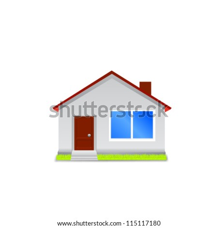 House icon isolated on white background. Vector