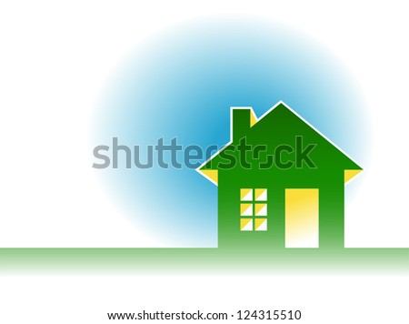 house icon on blue background Vector illustration