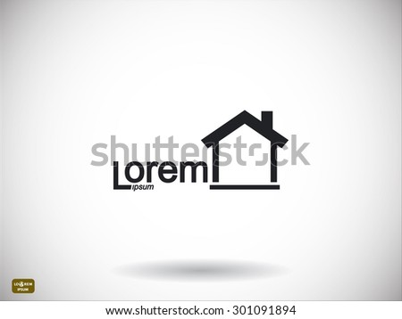 House icon. Sample text - stock vector