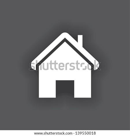 house icon. vector. eps10 - stock vector