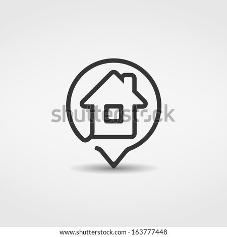 House icon, vector eps10 illustration - stock vector