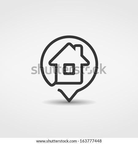 House icon, vector eps10 illustration - stock vector